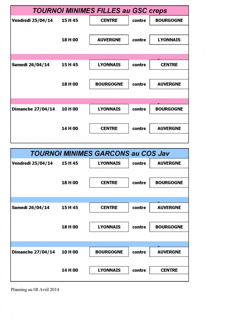 planning TIL U15 2014