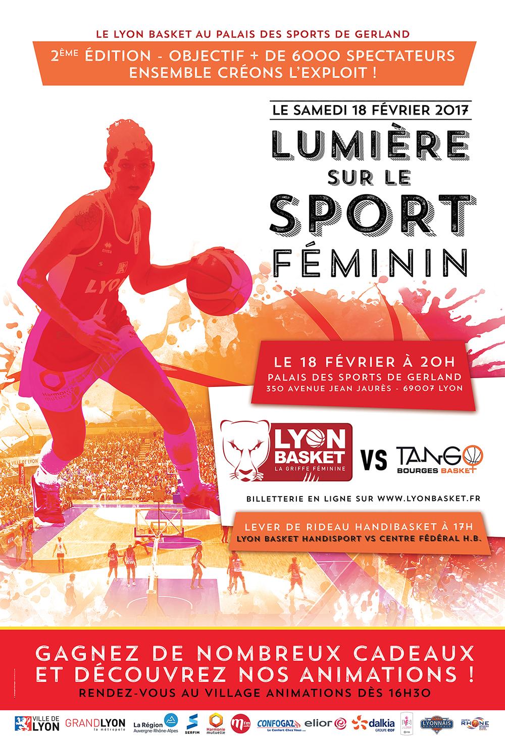 Lyon Basket - Palais des Sports 2017 Affiche web